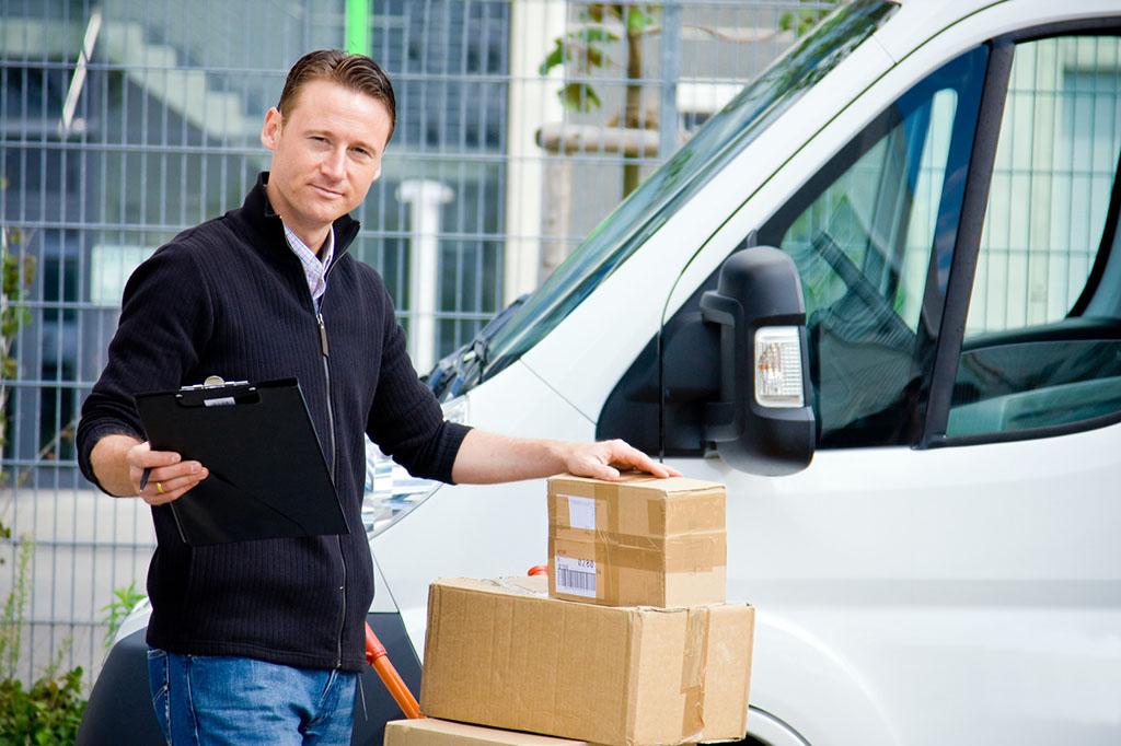 Delivery Boy With Van