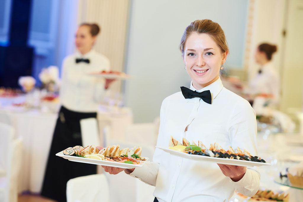 Waitress woman in restaurant